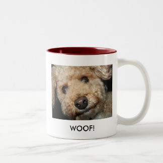 ADDISON WOOF! Two-Tone COFFEE MUG