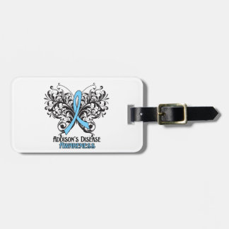 Addisons Disease Awareness Butterfly Luggage Tags