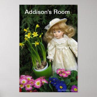 Addison's room poster