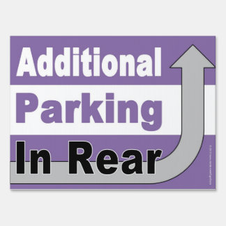 Additional Parking In Rear Traffic Sign