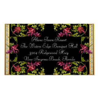 Additional Wedding Invitation Information Entree # Business Card