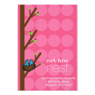 address card personalized announcement