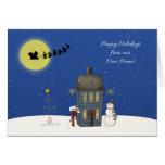Address Change, Snow Scene, Christmas Greeting Greeting Cards