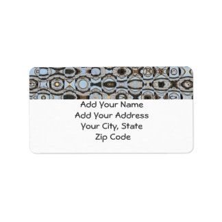 Address Label, blue & brown abstract design Label