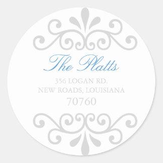 Address Label Classic Round Sticker