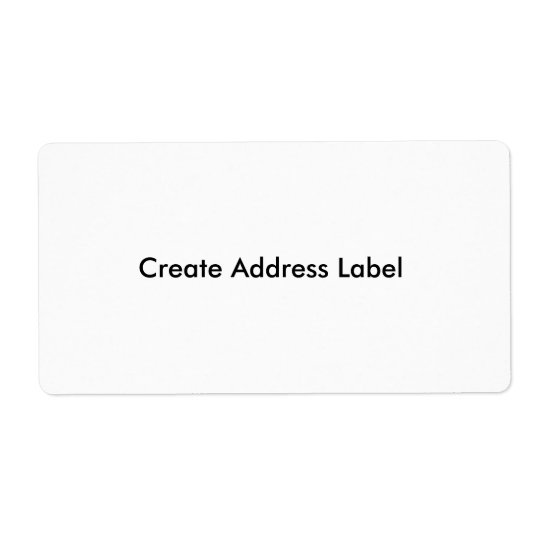 Address Label Create Make your own address Labels : Zazzle
