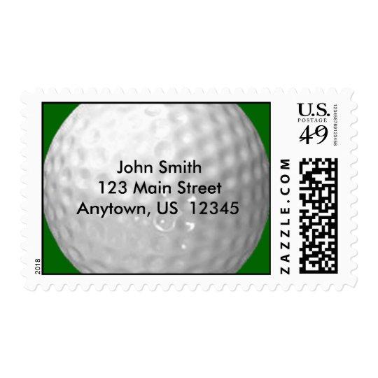 Address Label Golf Ball Postage Stamps