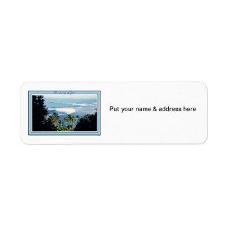 Address Label-Ke'e Beach, Kauai's North Shore Label