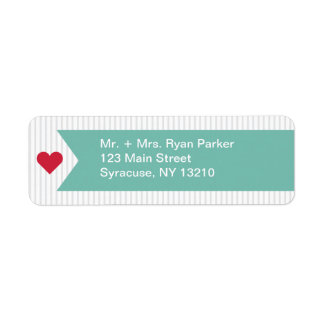 Address Label Modern Ribbon Collection