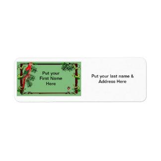 Address Label-Tropical Parrot Label