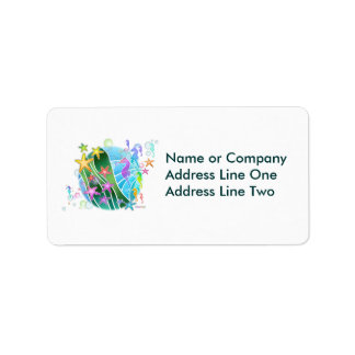 Address Label - Under the Sea Pop Art