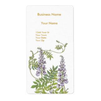 Address Label Vintage Retro Mauve Floral