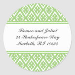 Address Label with Medieval Cross Pattern Round Stickers