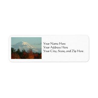Address Labels: Autumn Mt. Rainier Return Address Label