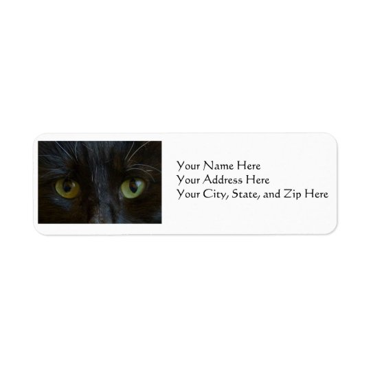 Address Labels: Black Cat Eyes Label