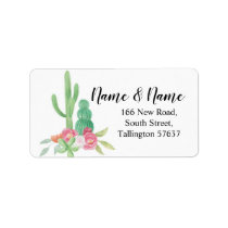 Address Labels Cactus Watercolor Print Cacti