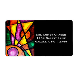 Address Labels, Comet Chaser, Acrylic Painting Shipping Label