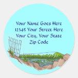 Address Labels: Customizable Round Stickers