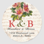 Address Labels gift tag vintage love letter Classic Round Sticker