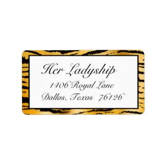 Address Labels Gone Wild (Tiger Stripe print)