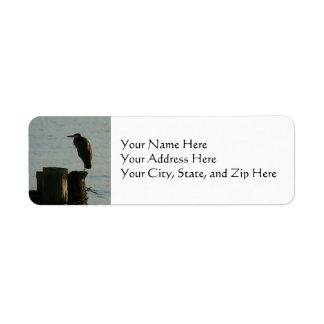 Address Labels:  Great Blue Heron Label
