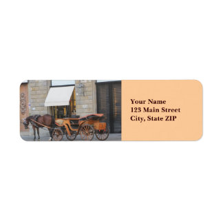 Address Labels--Horse & Carriage Label