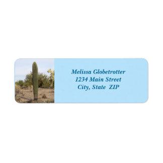 Address Labels--No Arm Saguaro Label