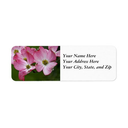 Address Labels:  Pink Dogwood