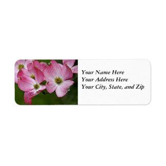 Address Labels:  Pink Dogwood Label