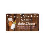 """Address Labels Stickers Beer Brewing Bottle Girl<br><div class=""""desc"""">Baby Girl Address Labels - Matching collection available.</div>"""