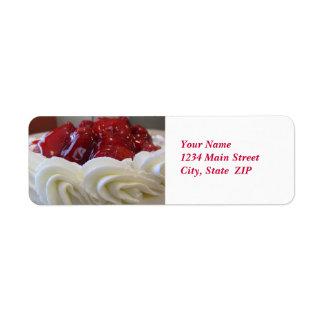 Address Labels--Strawberry Cake