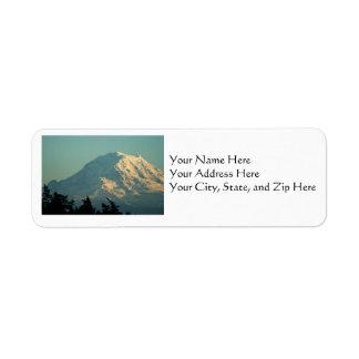 Address Labels: Winter Mt. Rainier Return Address Label