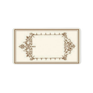 Address Labels with Brown Vintage Scrollwork