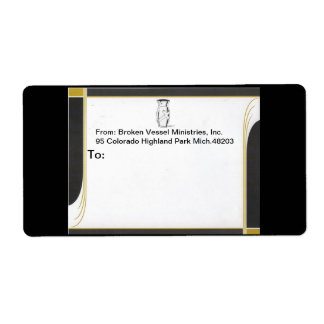 ADDRESS LABELS WITH ONYX STYLE BORDER