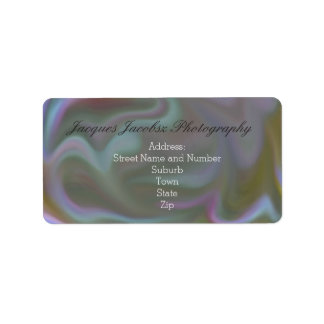 Address Labels with Retro Tie Dye Style Background