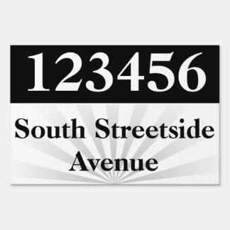 Address/Lot/Street Number Yard Sign