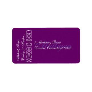 Address me, dahling personalized address labels