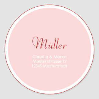 Address sticker for the wedding papetery
