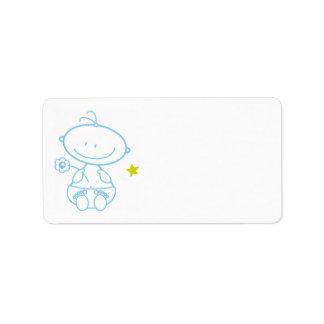 address stickers baby boy