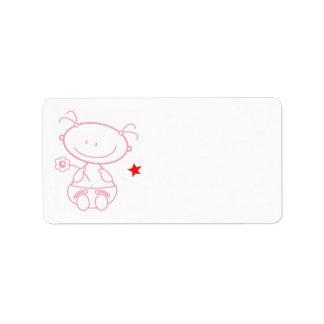 address stickers baby girl
