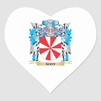 Addy Coat Of Arms Heart Sticker