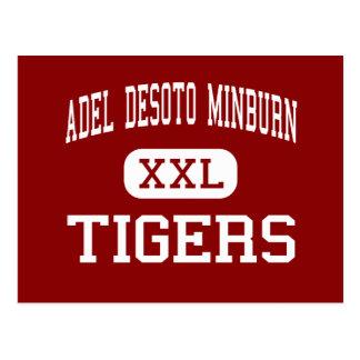 Adel Desoto Minburn - Tigers - High - Adel Iowa Postcard