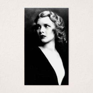 Adela, Elegant Black and White Vintage Photo Business Card