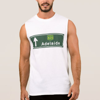 Adelaide, Australia Road Sign Sleeveless T-shirts