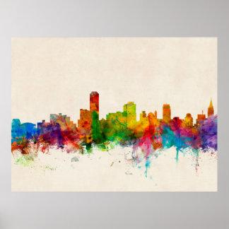 Adelaide Australia Skyline Poster