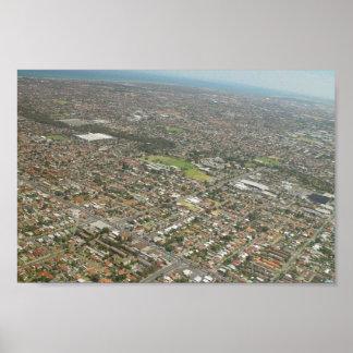 Adelaide del aire en sur de Australia Posters