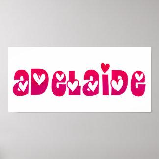 Adelaide en corazones póster