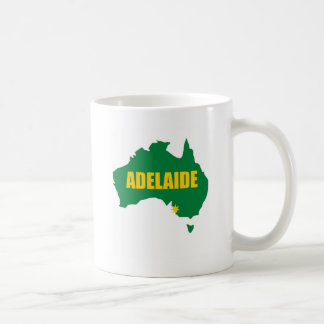 Adelaide Green and Gold Map Coffee Mugs