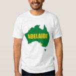 Adelaide Green and Gold Map T-Shirt