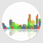 Adelaide SA Skyline Classic Round Sticker